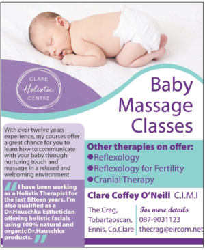 Therapies Offered. Baby massage flyer